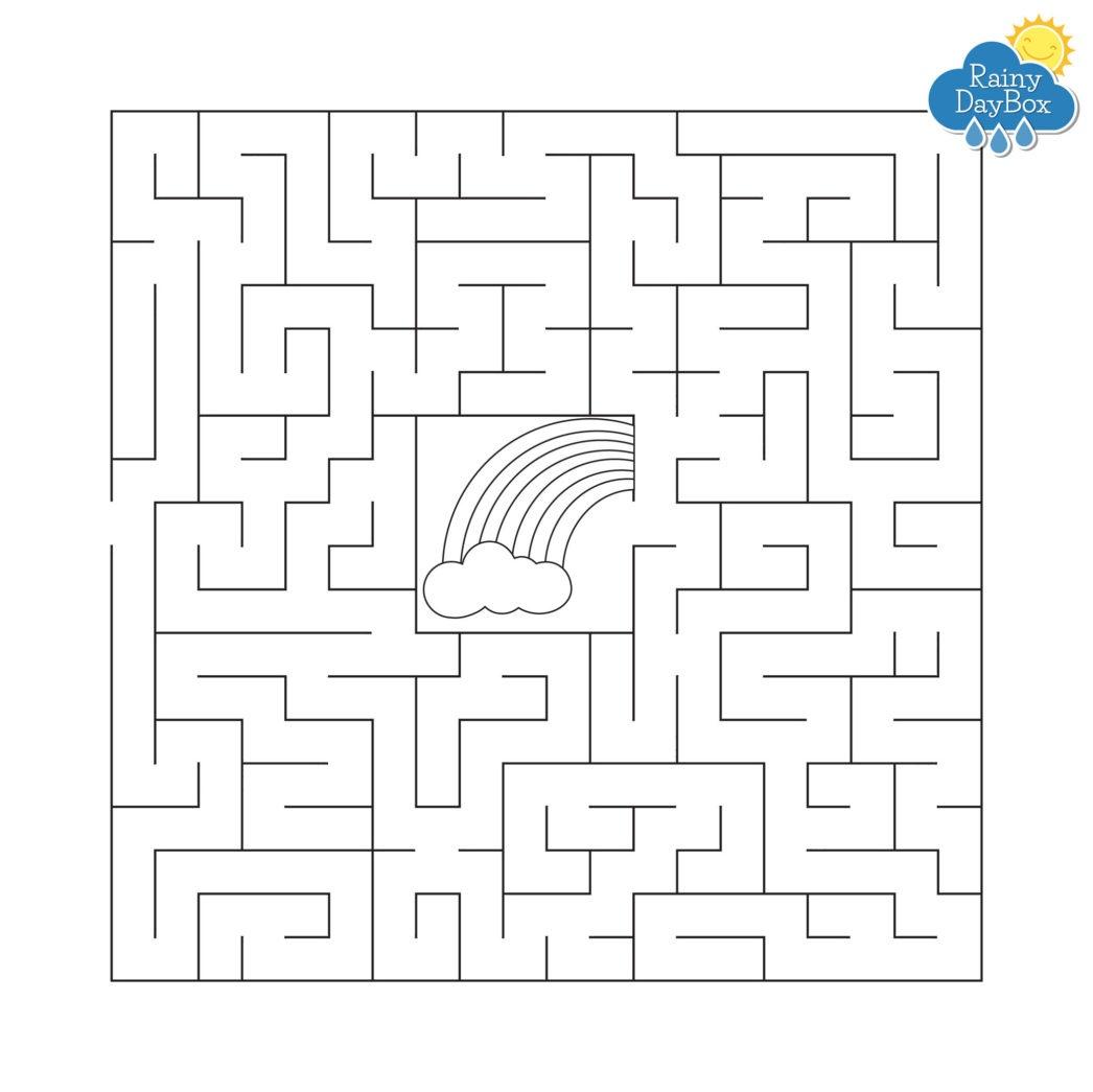 Kids Weather Free Printables - Rainy Day Box - Free Printable Mazes