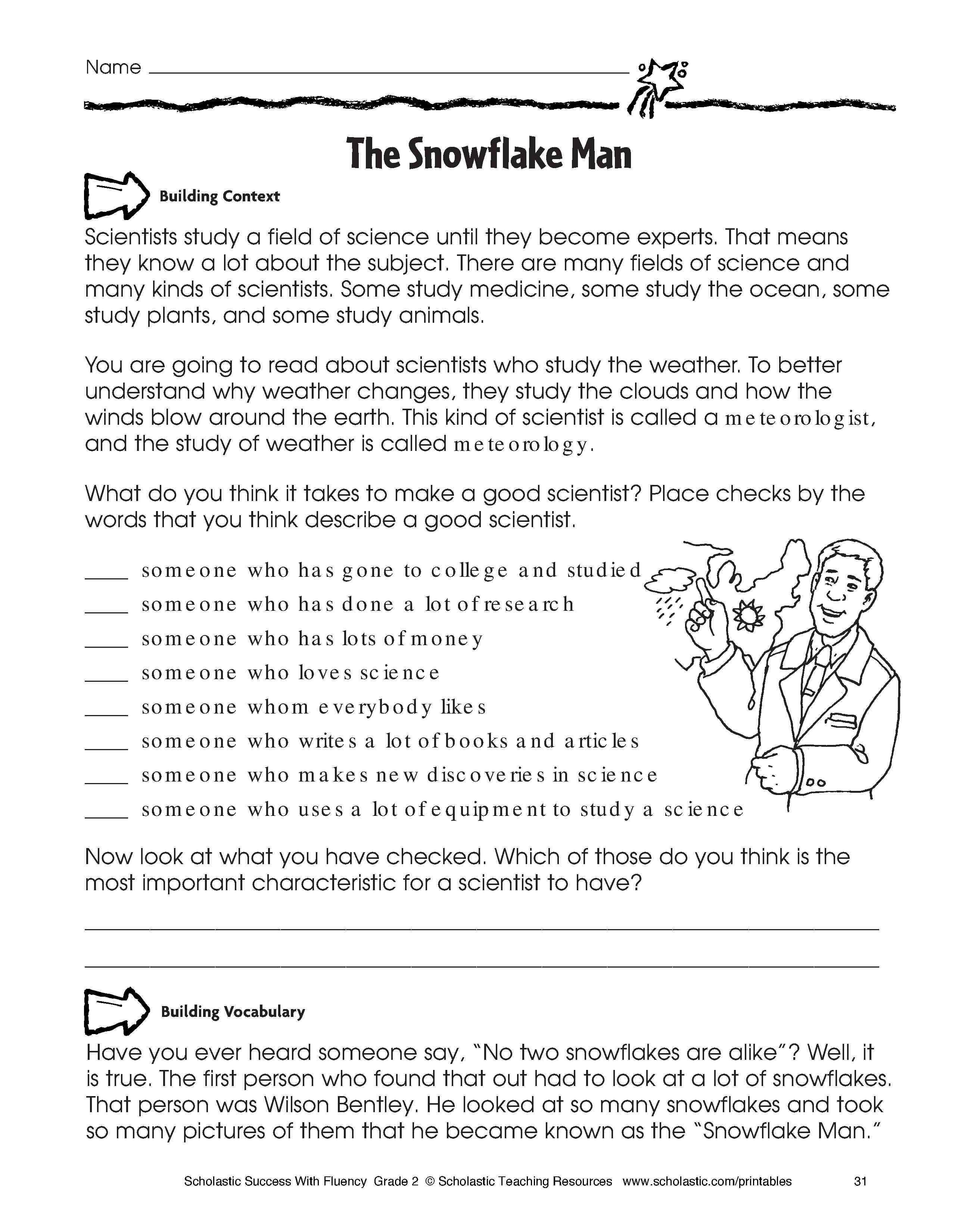 Kindergarten: Easy Esl English Reading Comprehension Worksheets - Free Printable Reading Level Assessment Test