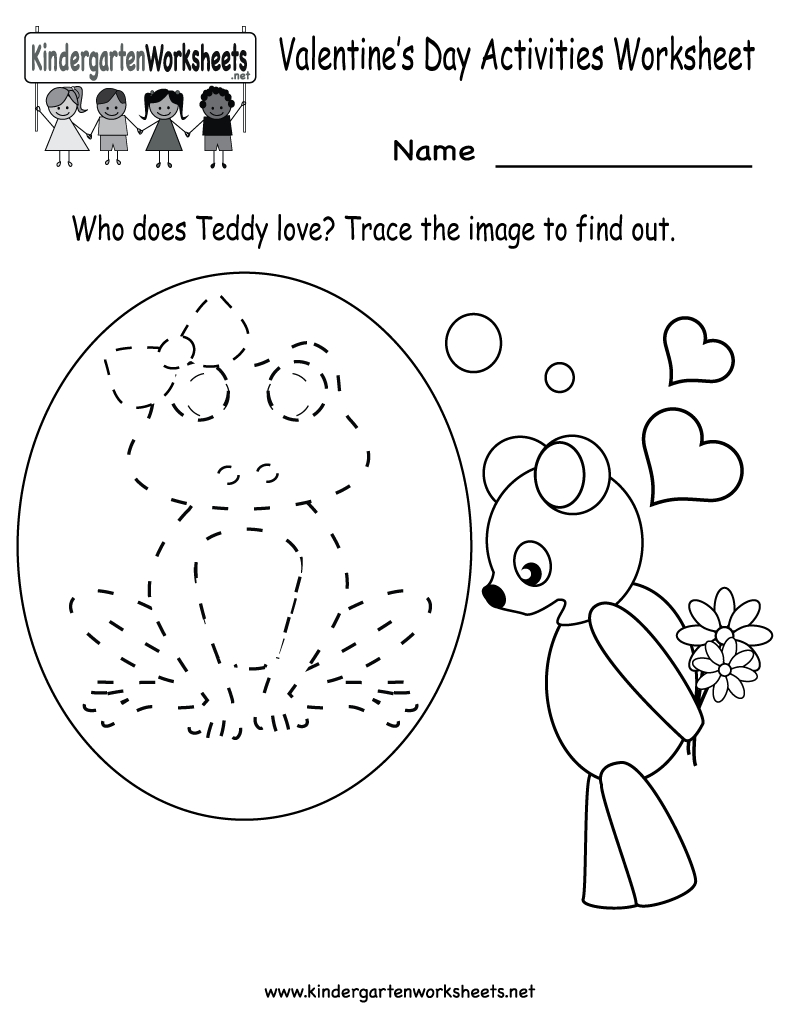 Kindergarten Valentine's Day Activities Worksheet Printable | Cute - Free Printable Presidents Day Worksheets