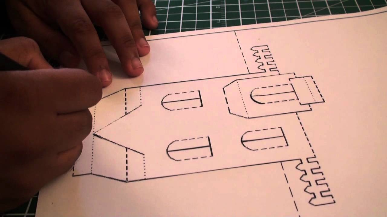 Kirigami Pop Up House   Free Template (Paper Craft) - Sunderorigami - Free Printable Kirigami Pop Up Card Patterns