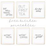 "Kitchen Wall Art   8X10"" Set Of Six Prints   Free Printable   Free Printable Wall Art 8X10"