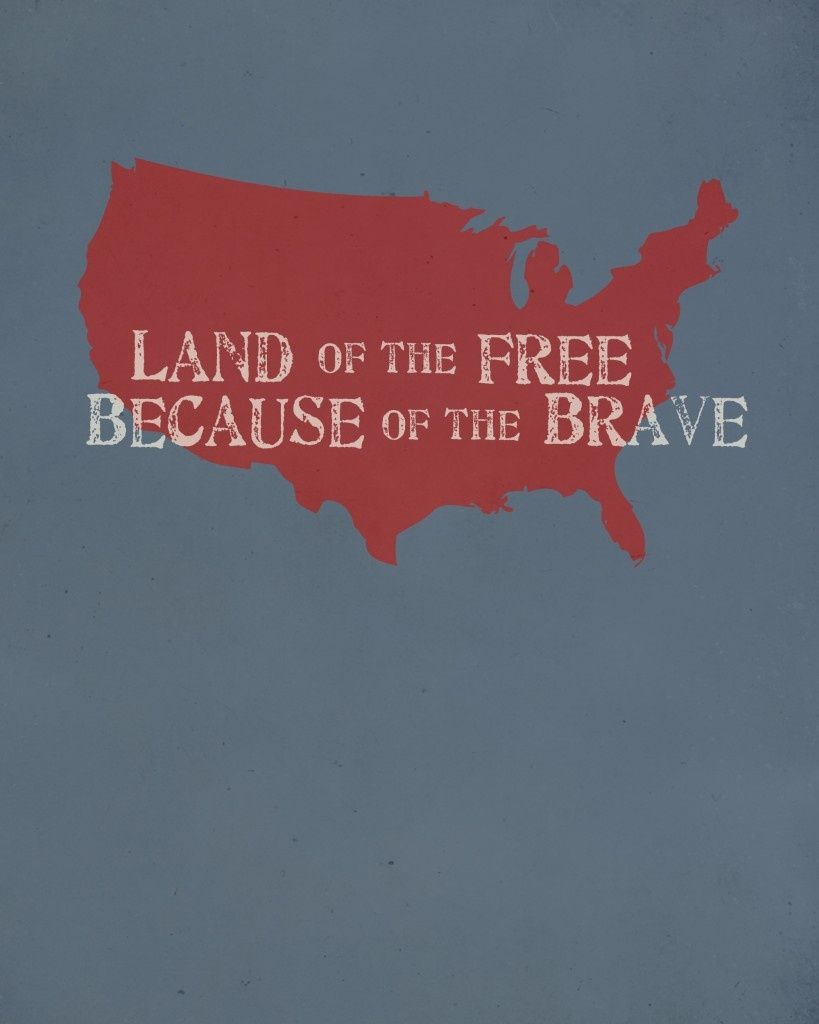 Land Of The Free, Because Of The Brave | 4Th Of July Printables - Home Of The Free Because Of The Brave Printable