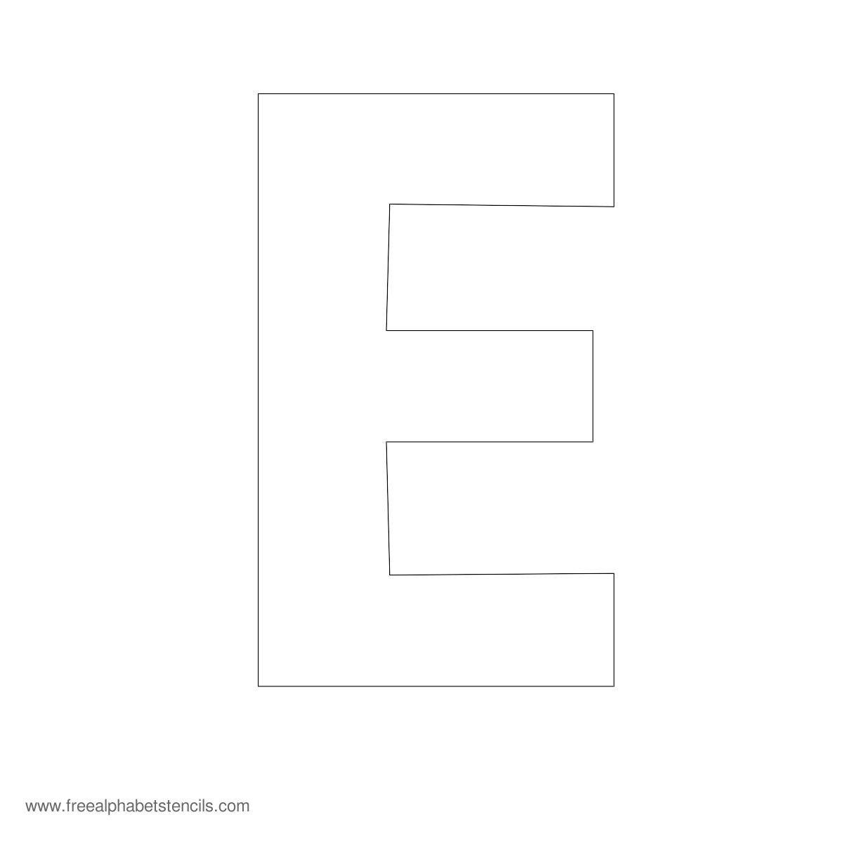 Large Alphabet Stencils | Freealphabetstencils - Free Printable Large Uppercase Alphabet Letters