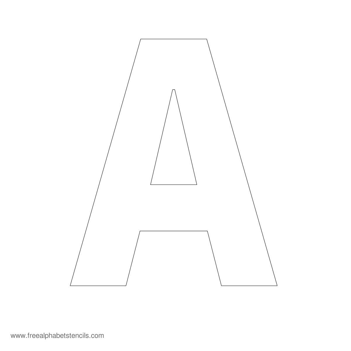 Large Alphabet Stencils | Freealphabetstencils - Online Letter Stencils Free Printable