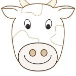 Large Printable Cow Decoration   Coolest Free Printables | Cow   Free Printable Sheep Mask