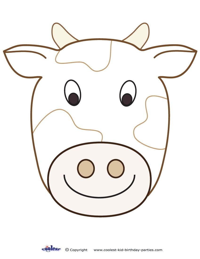 Large Printable Cow Decoration - Coolest Free Printables | Cow - Free Printable Sheep Mask