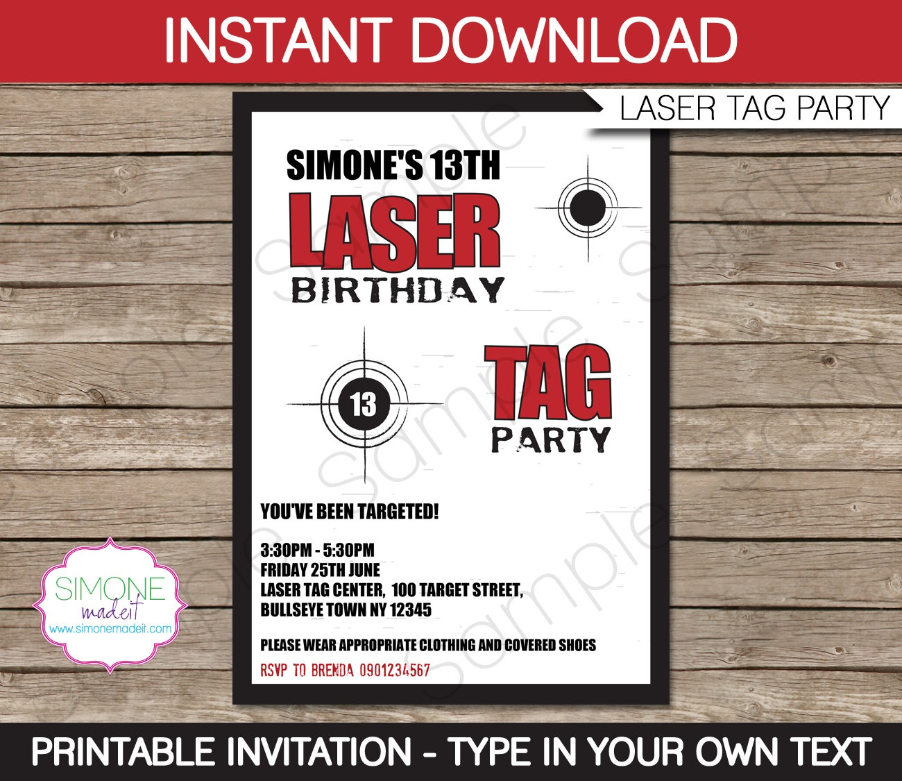 Laser Tag Birthday Invitations Free Printable – Happy Holidays! - Free Printable Laser Tag Invitation Template