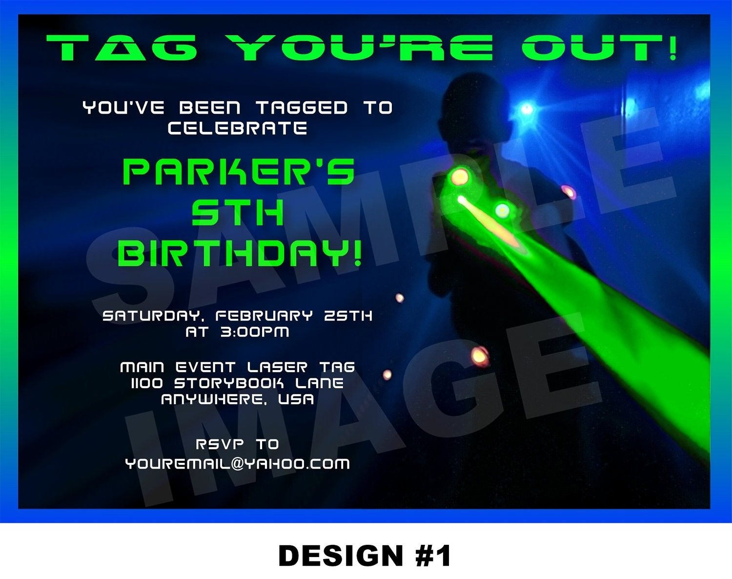 Laser Tag Party Invitations Template Free | Nicks Birthday In 2019 - Free Printable Laser Tag Invitation Template