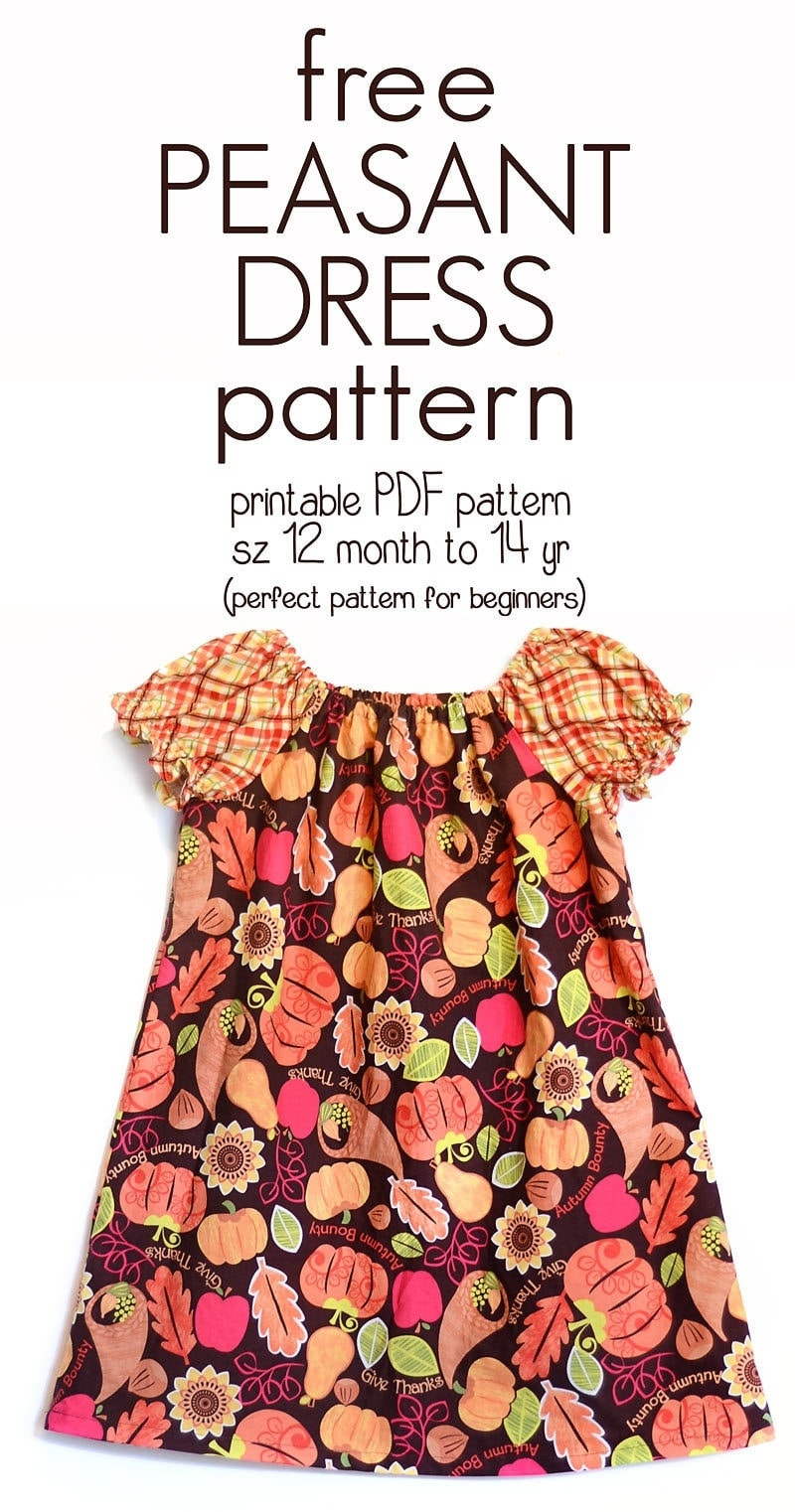 Learn How To Sew A Peasant Dress With This Free Peasant Dress - Free Printable Sewing Patterns For Kids