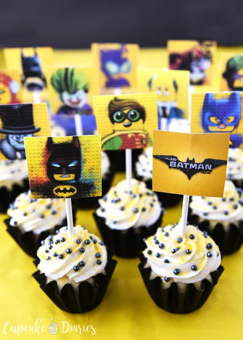 Lego Batman Cupcakes With Free Printable Toppers - Free Printable Lego Batman