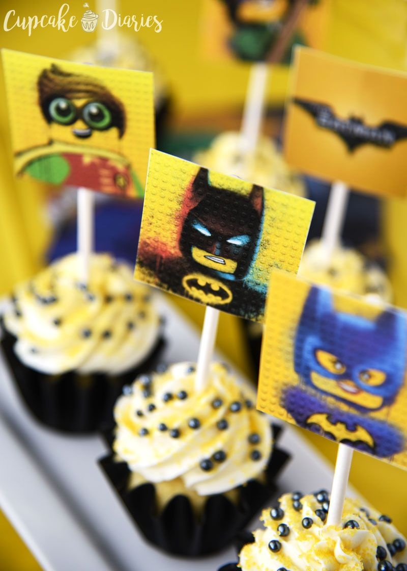 Lego Batman Cupcakes With Free Printable Toppers | Recipe - Batman Cupcake Toppers Free Printable