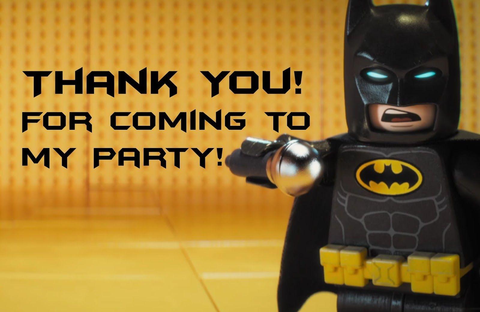 Lego Batman Thank You Cards   Lego Party   Pinterest - Feestje En Lego - Free Printable Lego Batman
