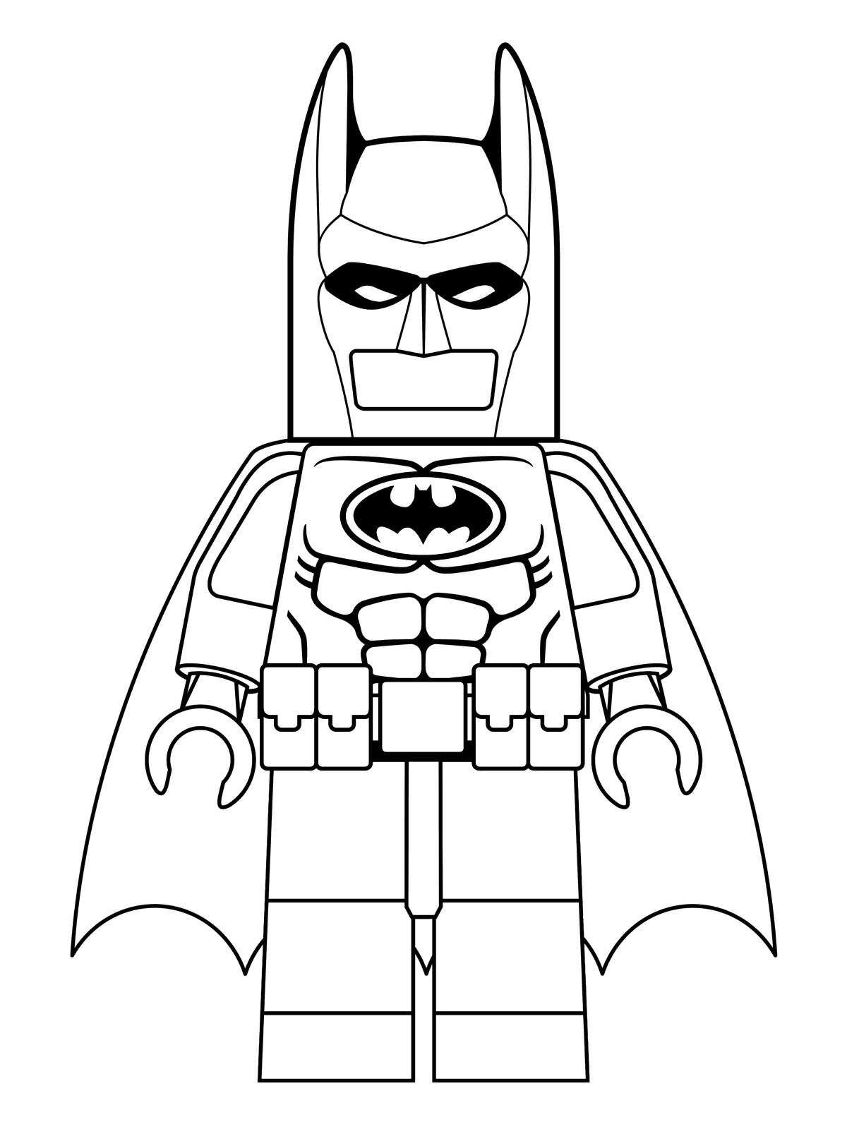 Lego Batman To Print - Lego Batman Kids Coloring Pages - Free Printable Batman Coloring Pages
