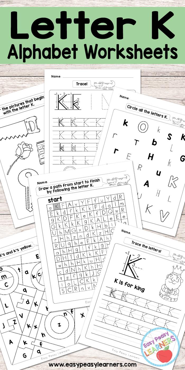 Letter K Worksheets - Alphabet Series - Easy Peasy Learners - Free Printable Letter K Worksheets