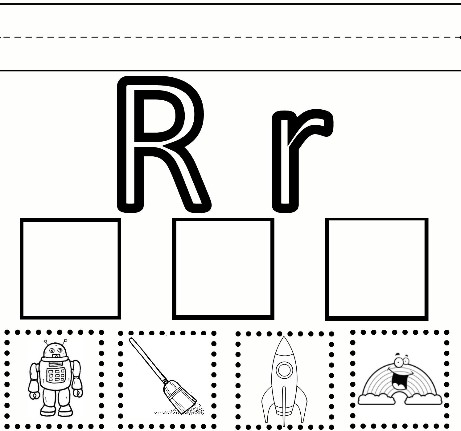 "Letter R Preschool Worksheets | Preschool Learning – Letter ""R - Free Printable Preschool Worksheets For The Letter R"