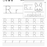 Letter R Writing Practice Worksheet   Free Kindergarten English   Free Printable Preschool Worksheets For The Letter R