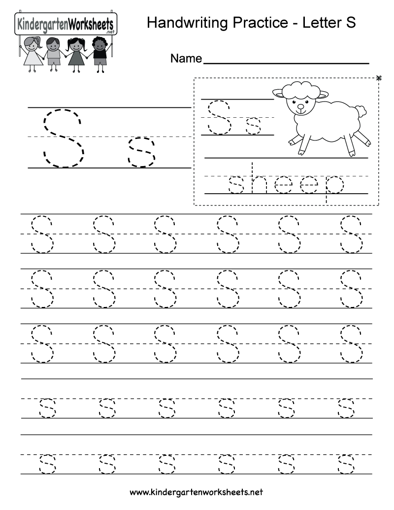 Letter S Practice Sheet - Demir.iso-Consulting.co - Free Printable Handwriting Sheets For Kindergarten
