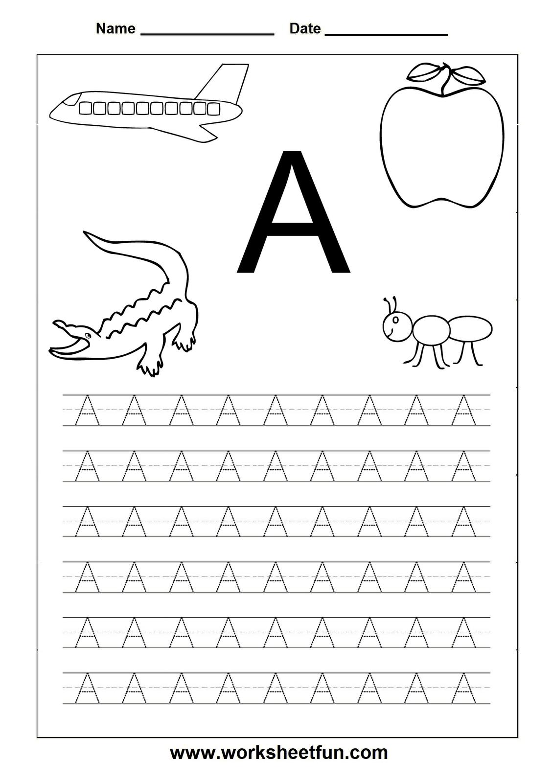 Letter Worksheets For Kindergarten Printable | Letters | Toddler - Free Printable Letter Worksheets