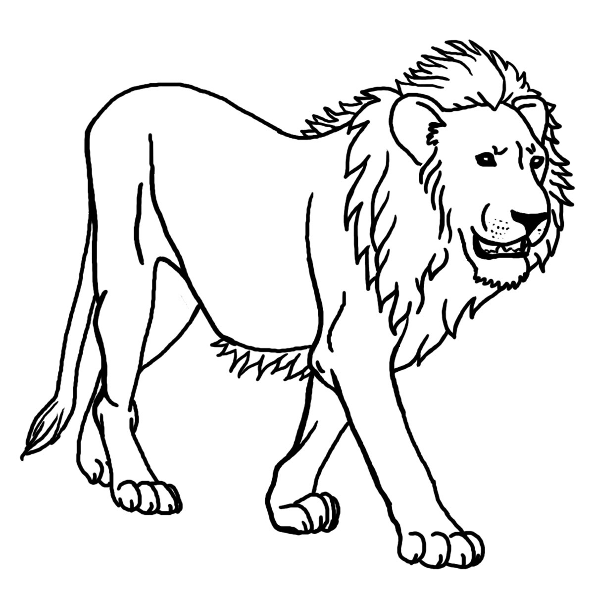 Lion Free To Color For Children - Lion Kids Coloring Pages - Free Printable Picture Of A Lion