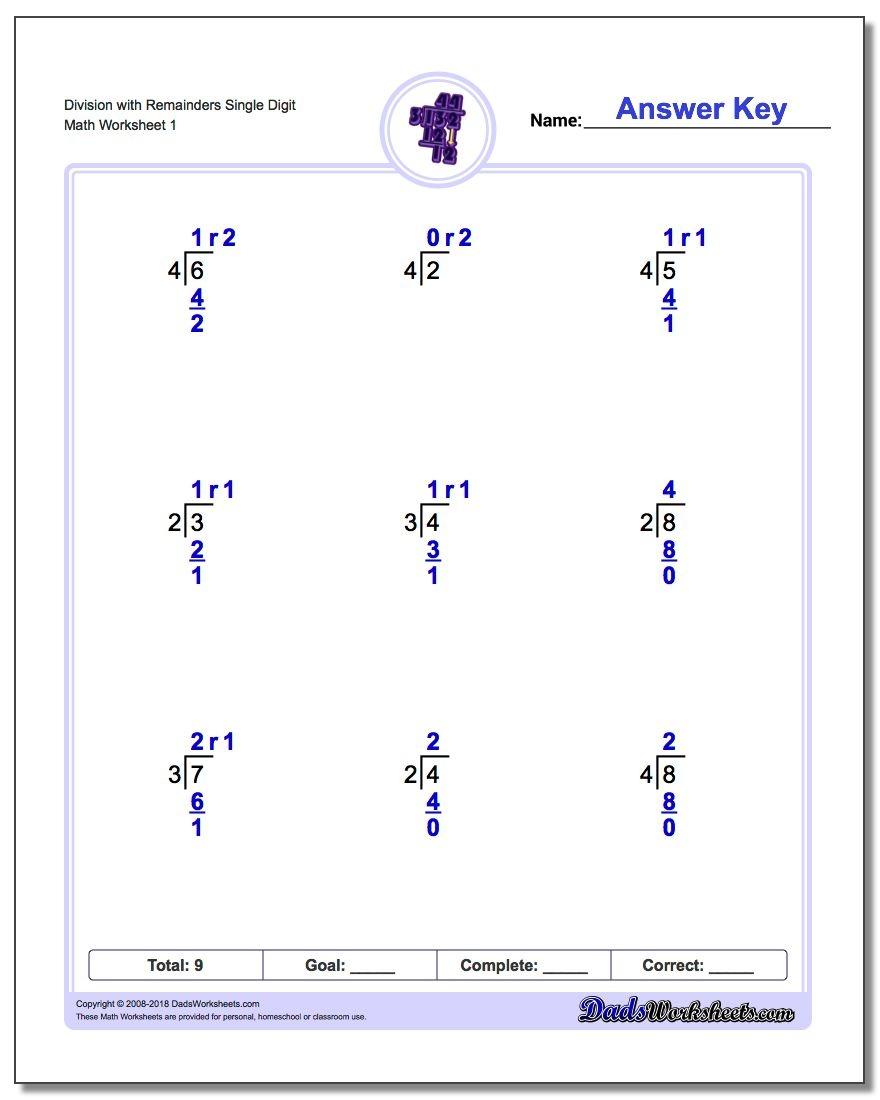 Long Division Worksheets - Free Printable Division Worksheets For 4Th Grade