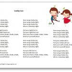 Looby Loo Song – Lyrics In French And In English – Free Printables   Free Printable Song Lyrics