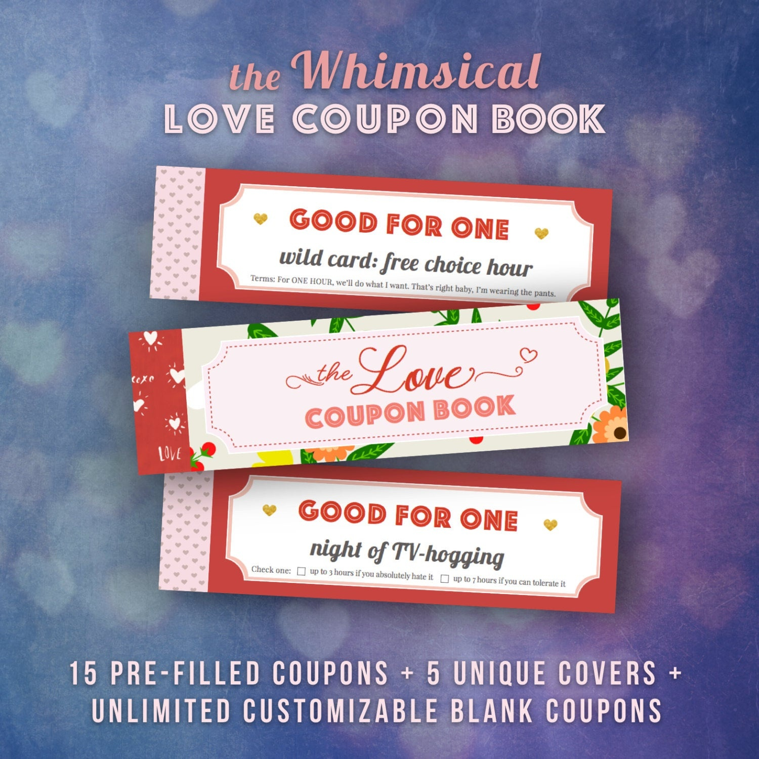 Love Coupons Book For Him Valentines Day Gift Ideas Husband | Etsy - Free Printable Coupon Book For Boyfriend