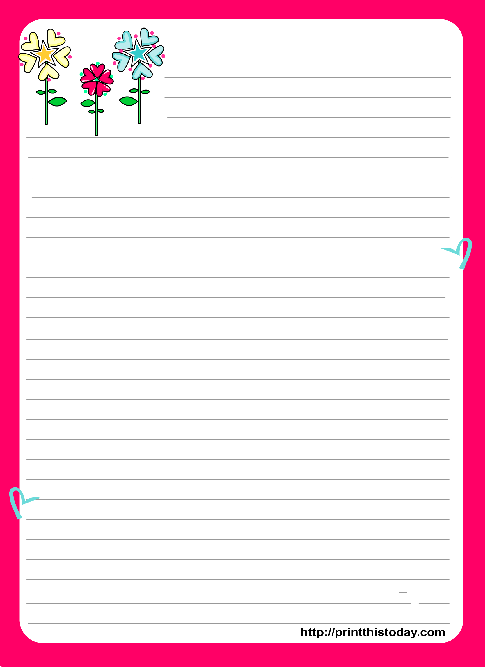 Love Letter Pad Stationery   Stationery   Free Printable Stationery - Free Printable Love Letter Paper