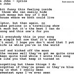 Love Song Lyrics For:your Song Elton John   Free Printable Song Lyrics