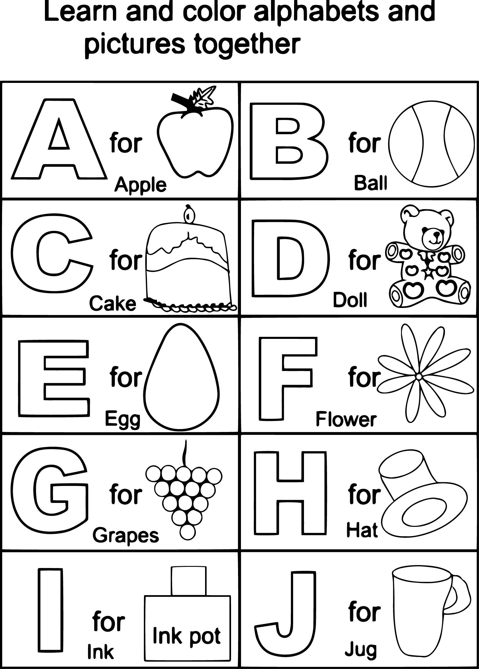 Lovely Free Alphabet Coloring Pages | Coloring Pages - Free Printable Alphabet Coloring Pages