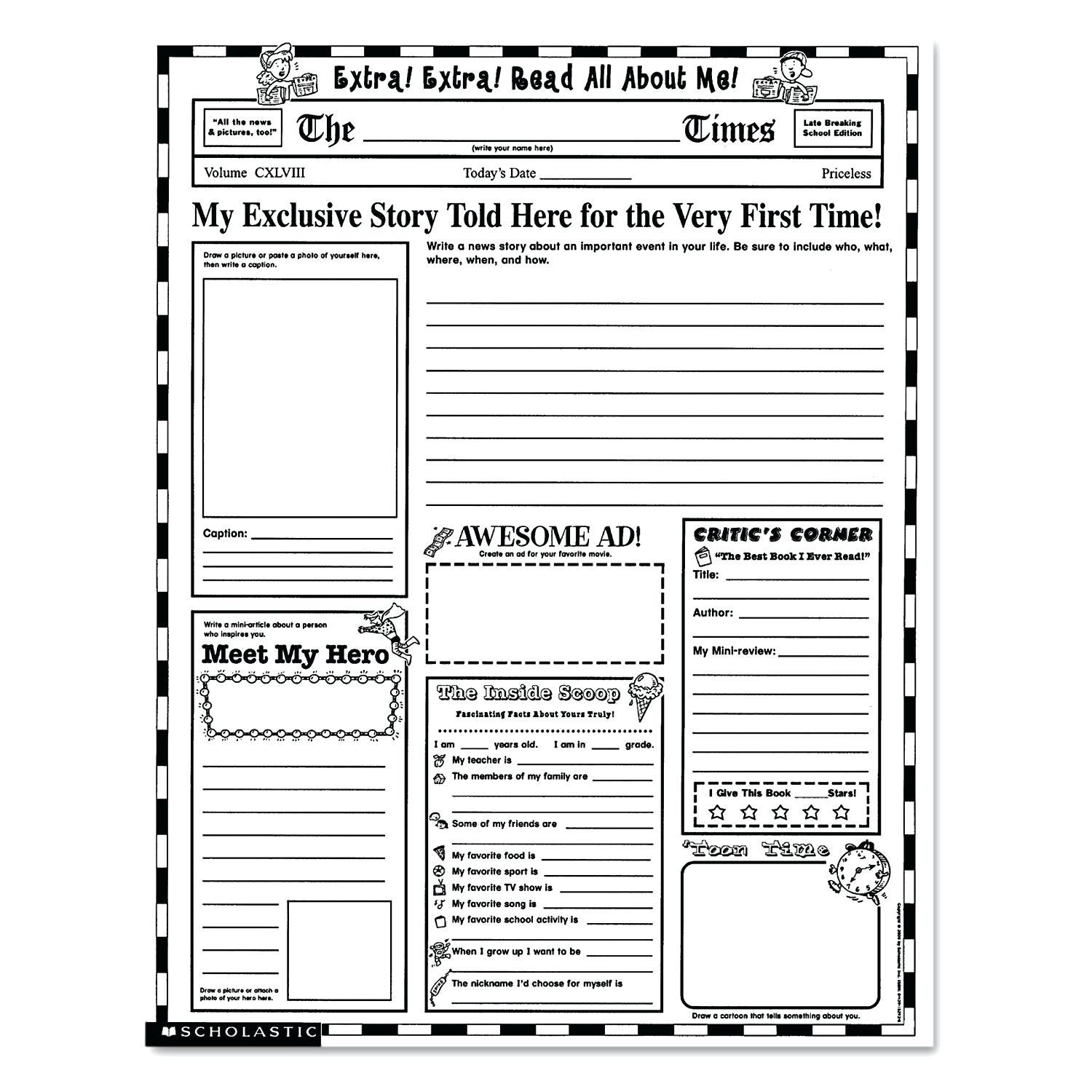 Lovely Free Printable Newsletter Templates | Www.pantry-Magic - Free Printable Newspaper Templates For Students