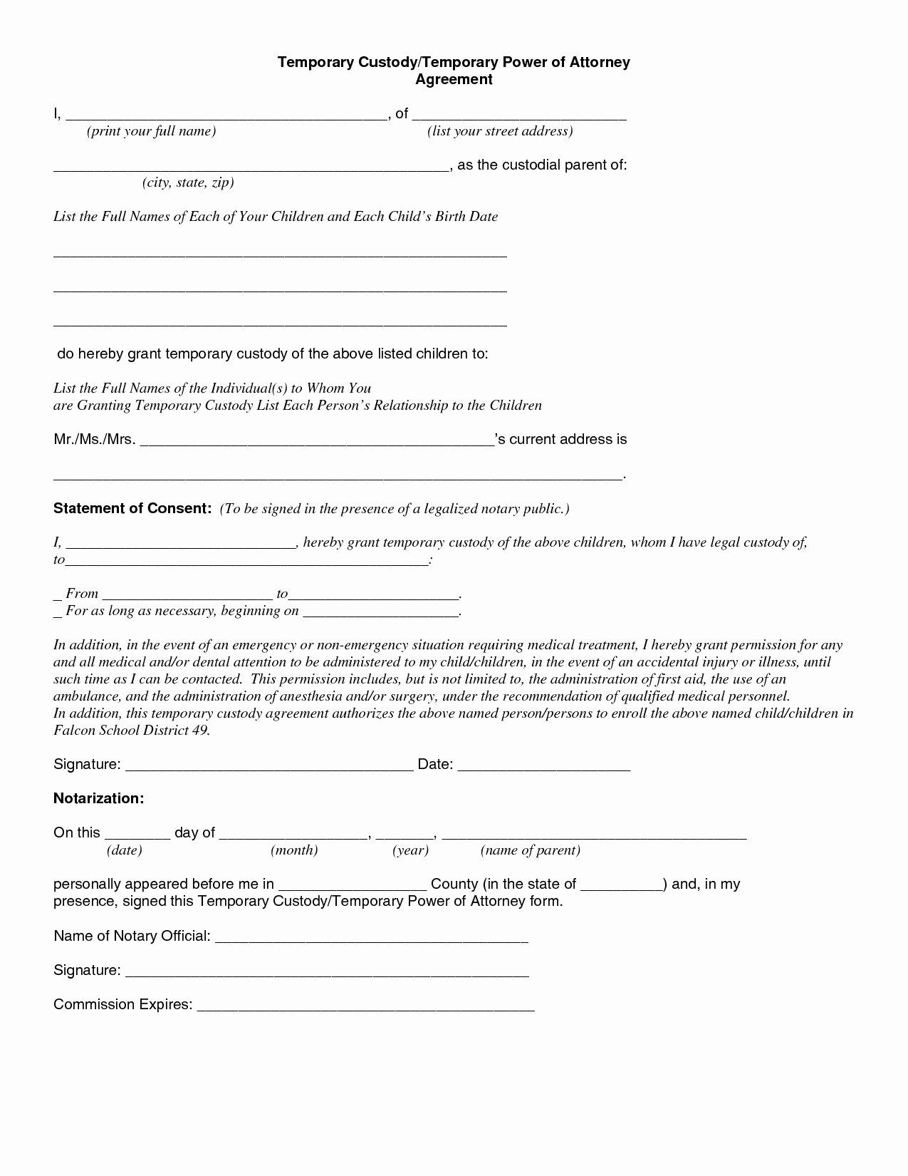 Lovely Temporary Guardianship Forms Free Printable Child - Free Printable Guardianship Forms
