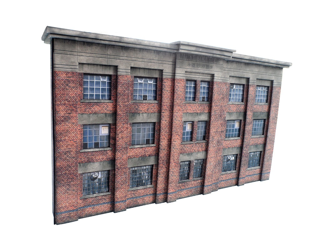 Low Relief 1930's Factory - Oo / 4Mm / 1:76 | Model Railway Scenery - Free Printable Model Railway Buildings