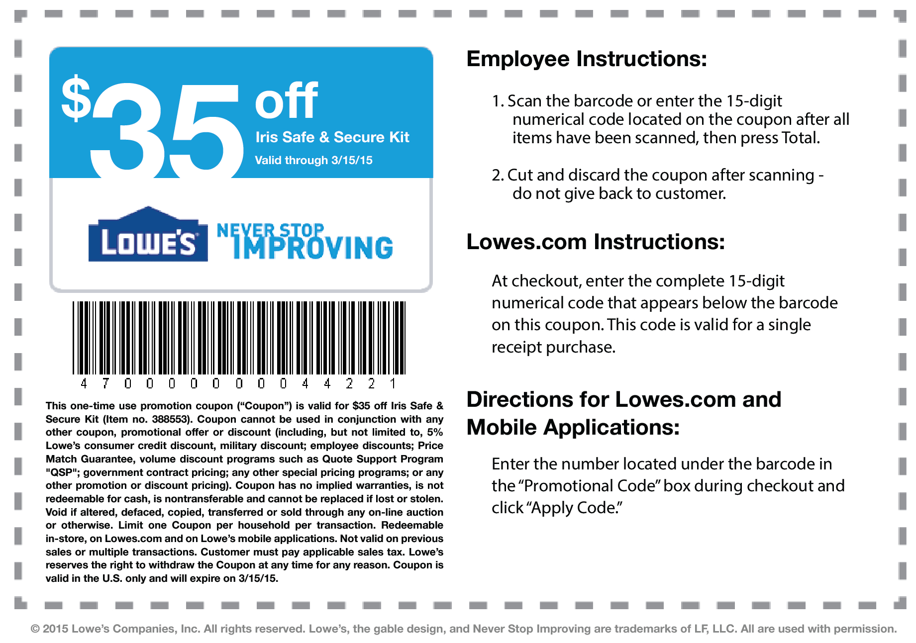 Lowes Coupons – Download & Print - Free Printable Lowes Coupons