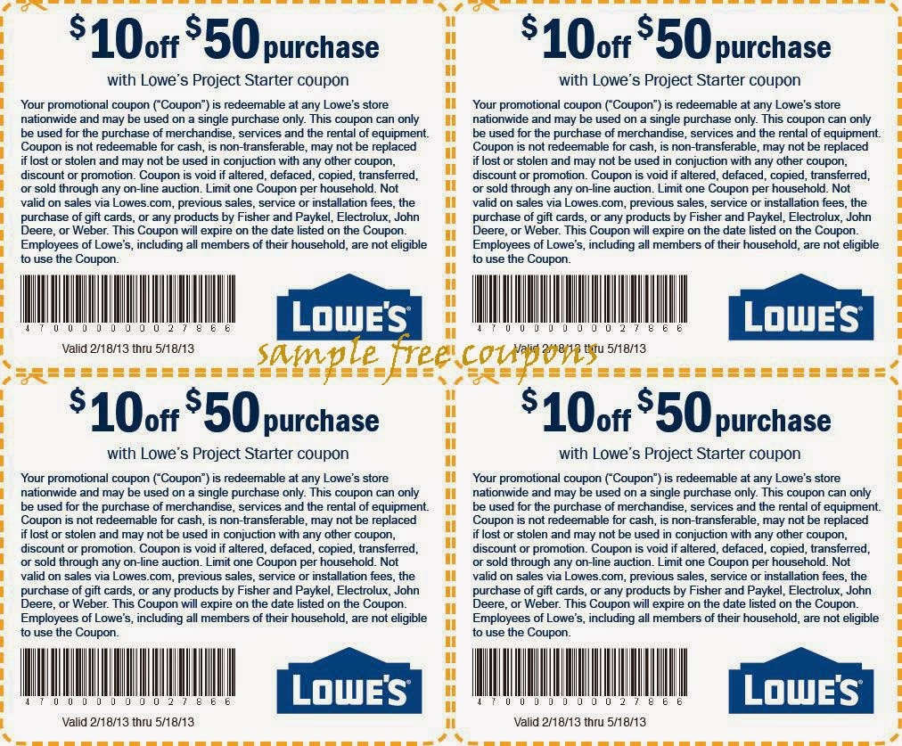 Lowes Printable Coupons For 2018 And Beyond! | Coupon Codes Blog - Free Printable Lowes Coupons