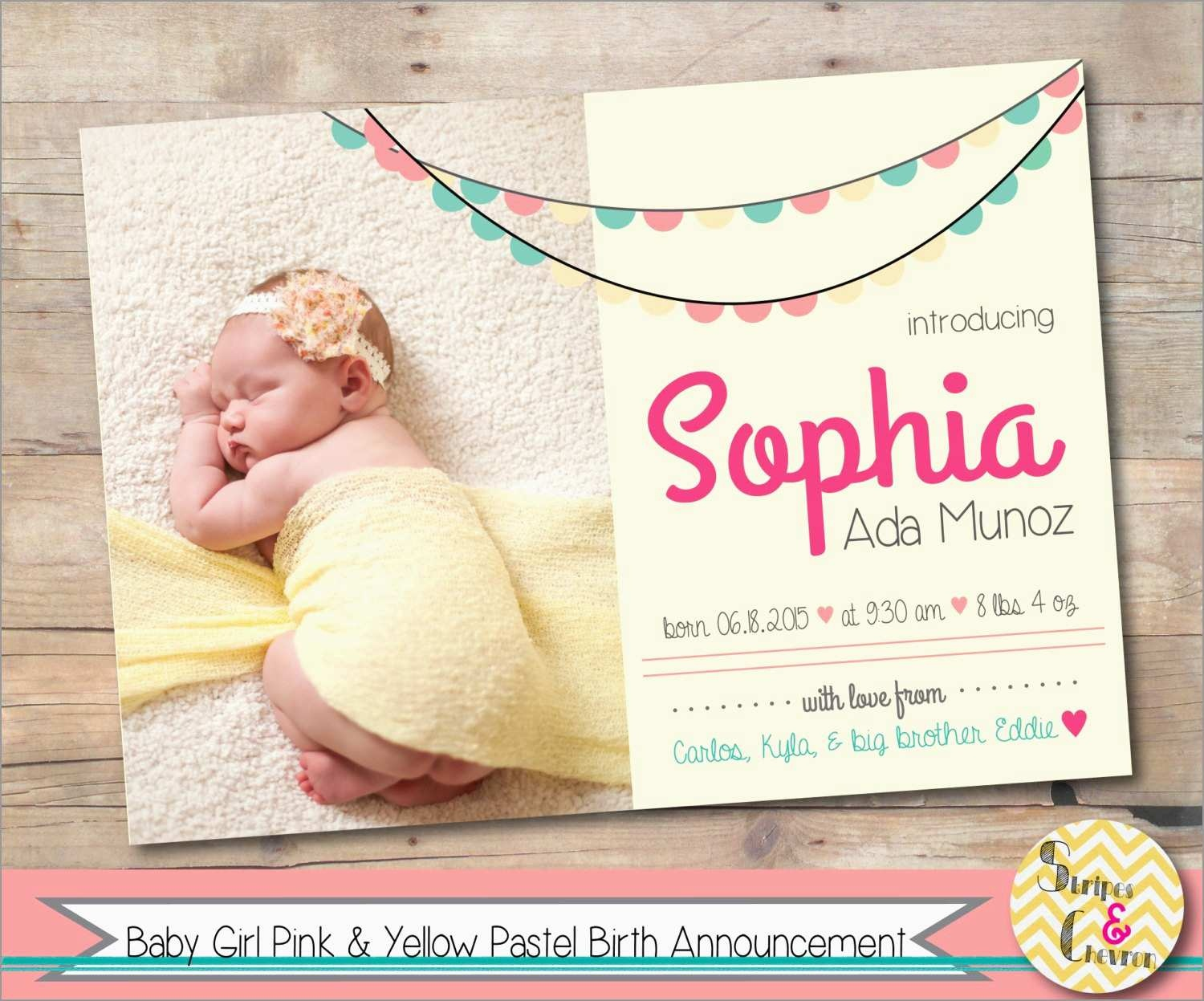 Luxury Birth Announcement Template Free Printable | Best Of Template - Free Birth Announcements Printable