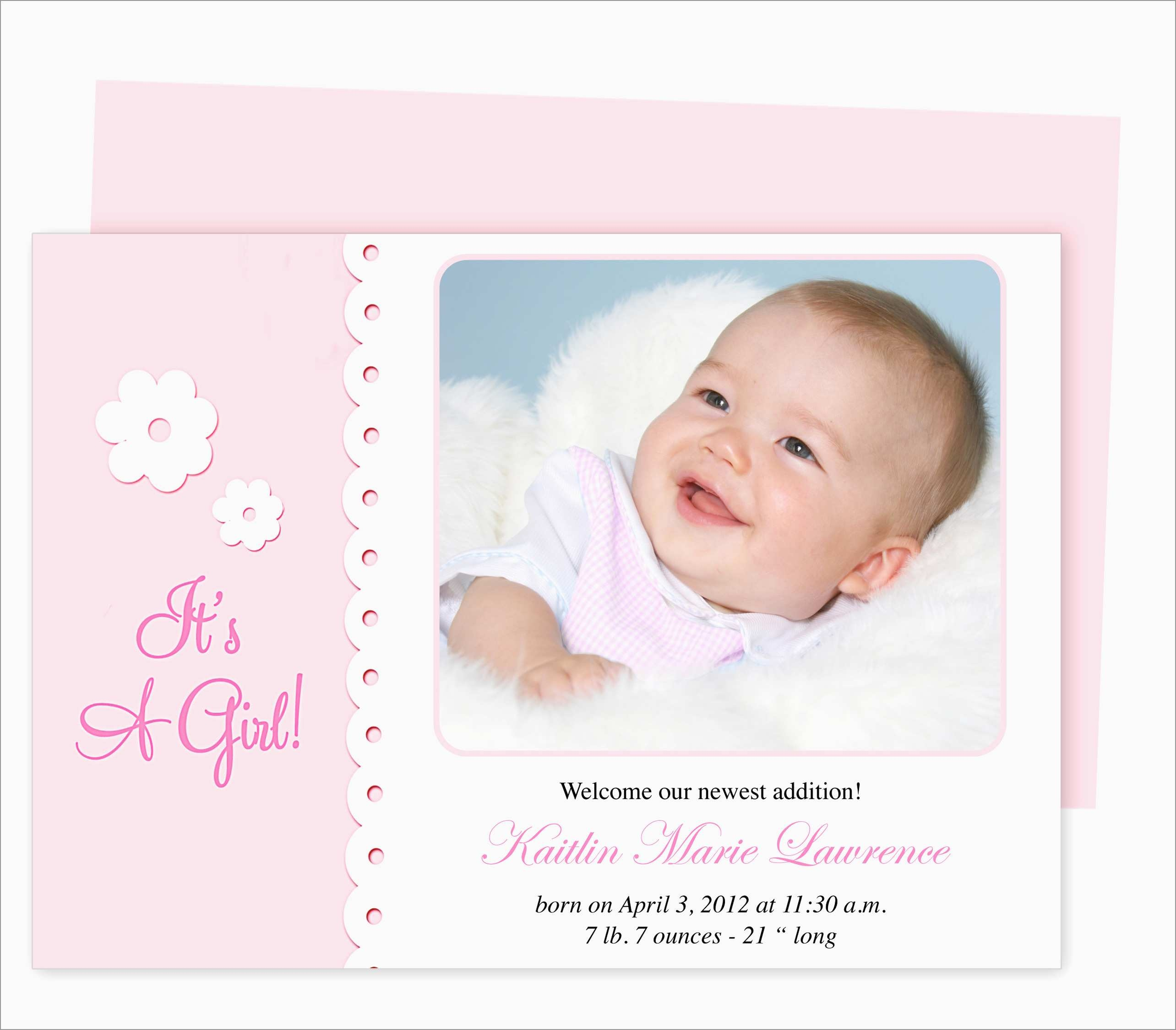 Luxury Birth Announcement Template Free Printable | Best Of Template - Free Printable Baby Birth Announcement Cards