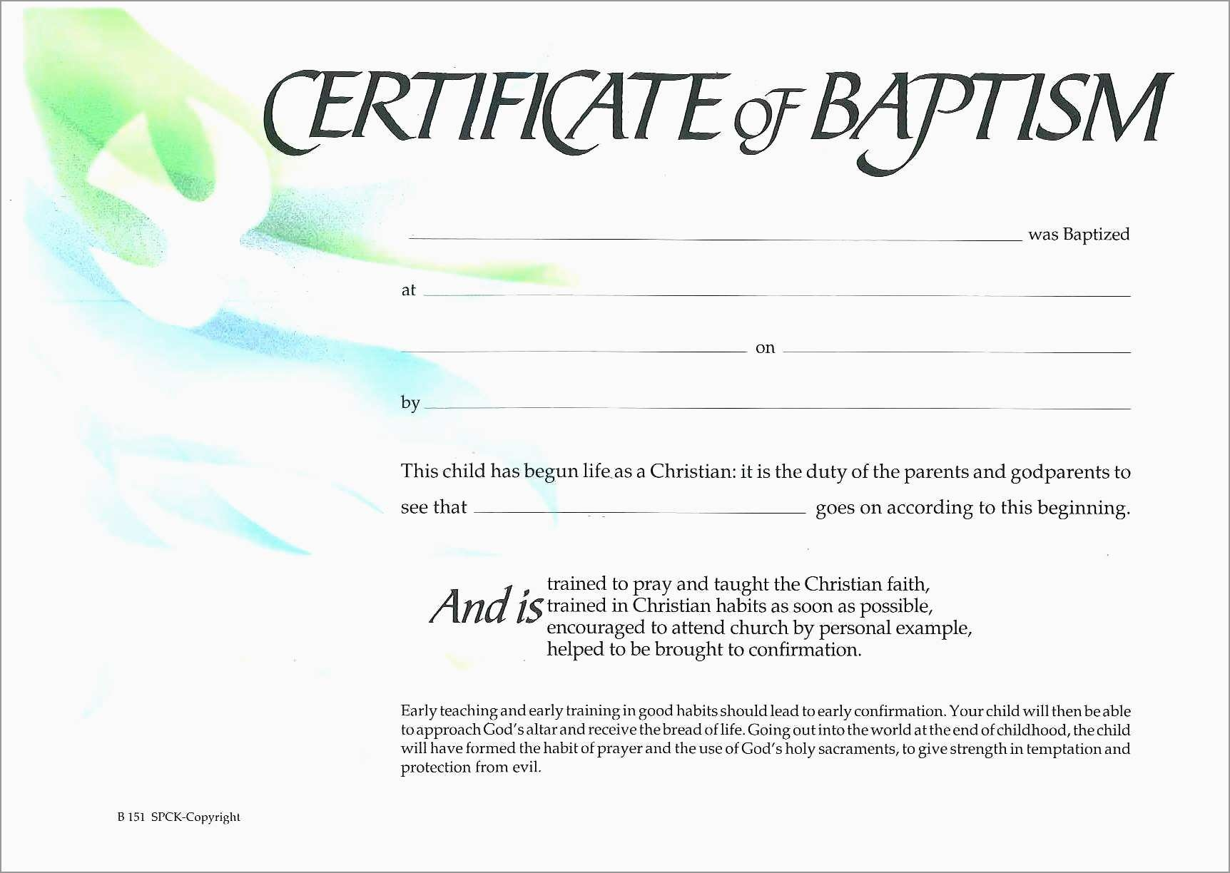 Luxury Free Baptism Certificate Template Word | Best Of Template - Free Online Printable Baptism Certificates