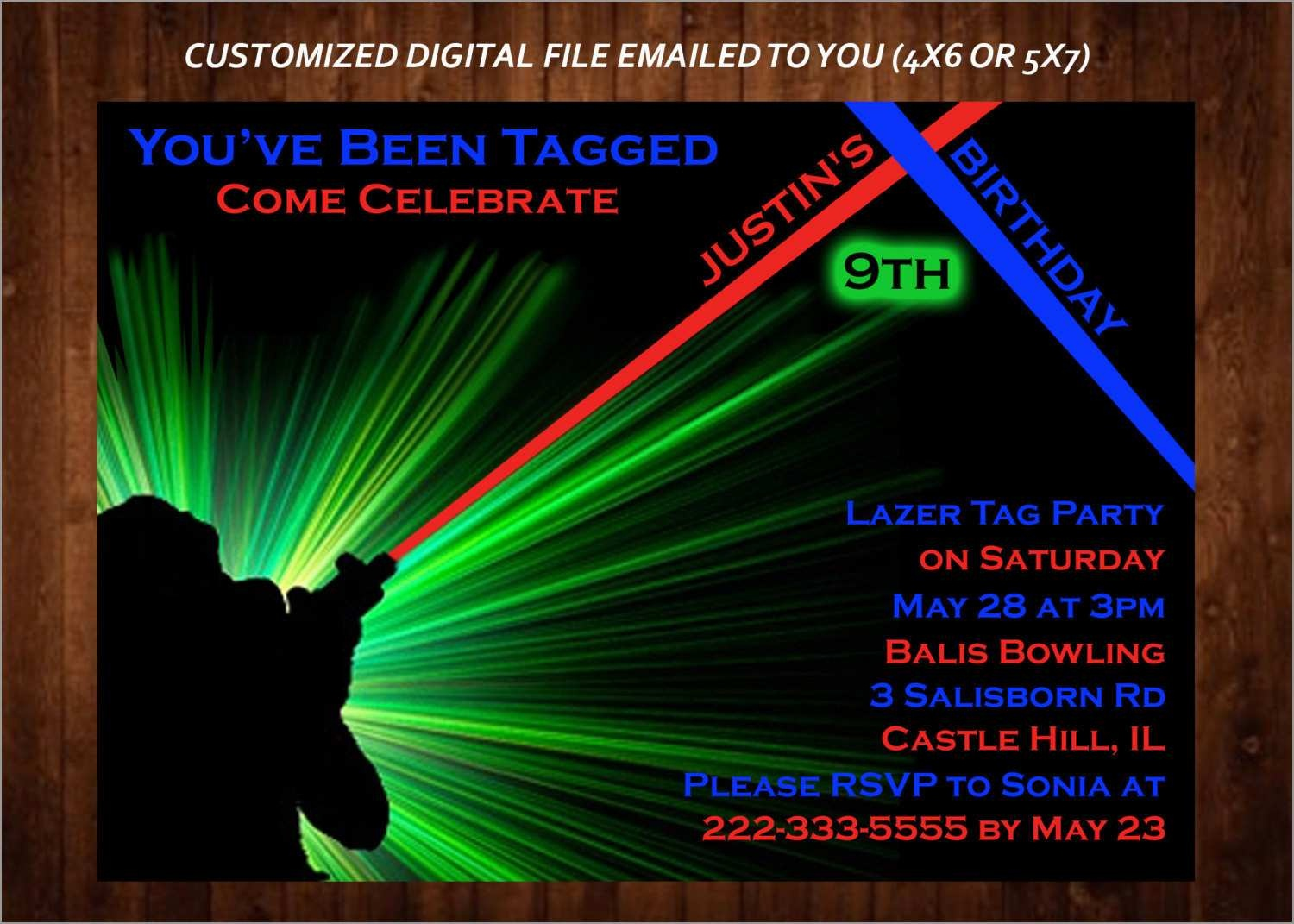 Luxury Free Printable Laser Tag Invitation Template | Best Of Template - Free Printable Laser Tag Invitation Template