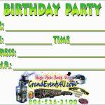 Luxury Free Printable Laser Tag Invitation Template | Best Of Template   Free Printable Video Game Party Invitations