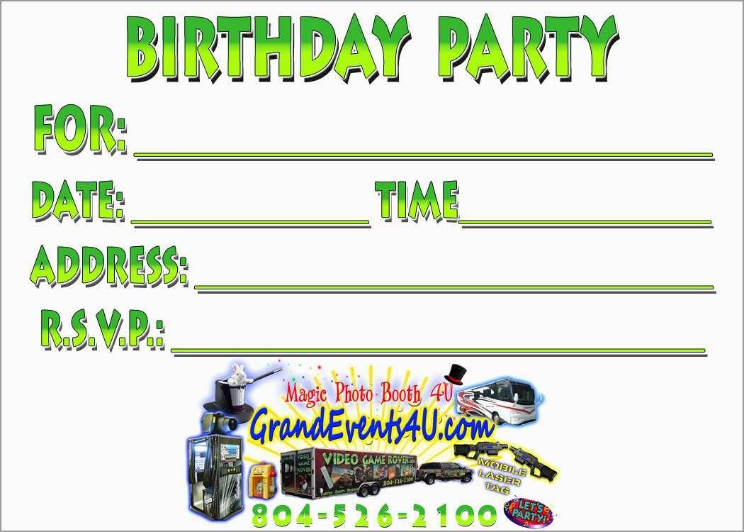 Luxury Free Printable Laser Tag Invitation Template | Best Of Template - Free Printable Video Game Party Invitations