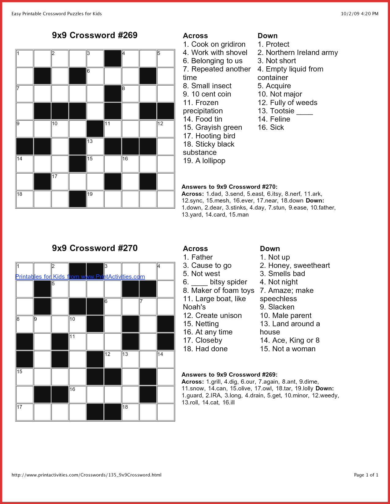 Luxury Puzzles To Print | Cobble Usa - Free Online Printable Easy Crossword Puzzles