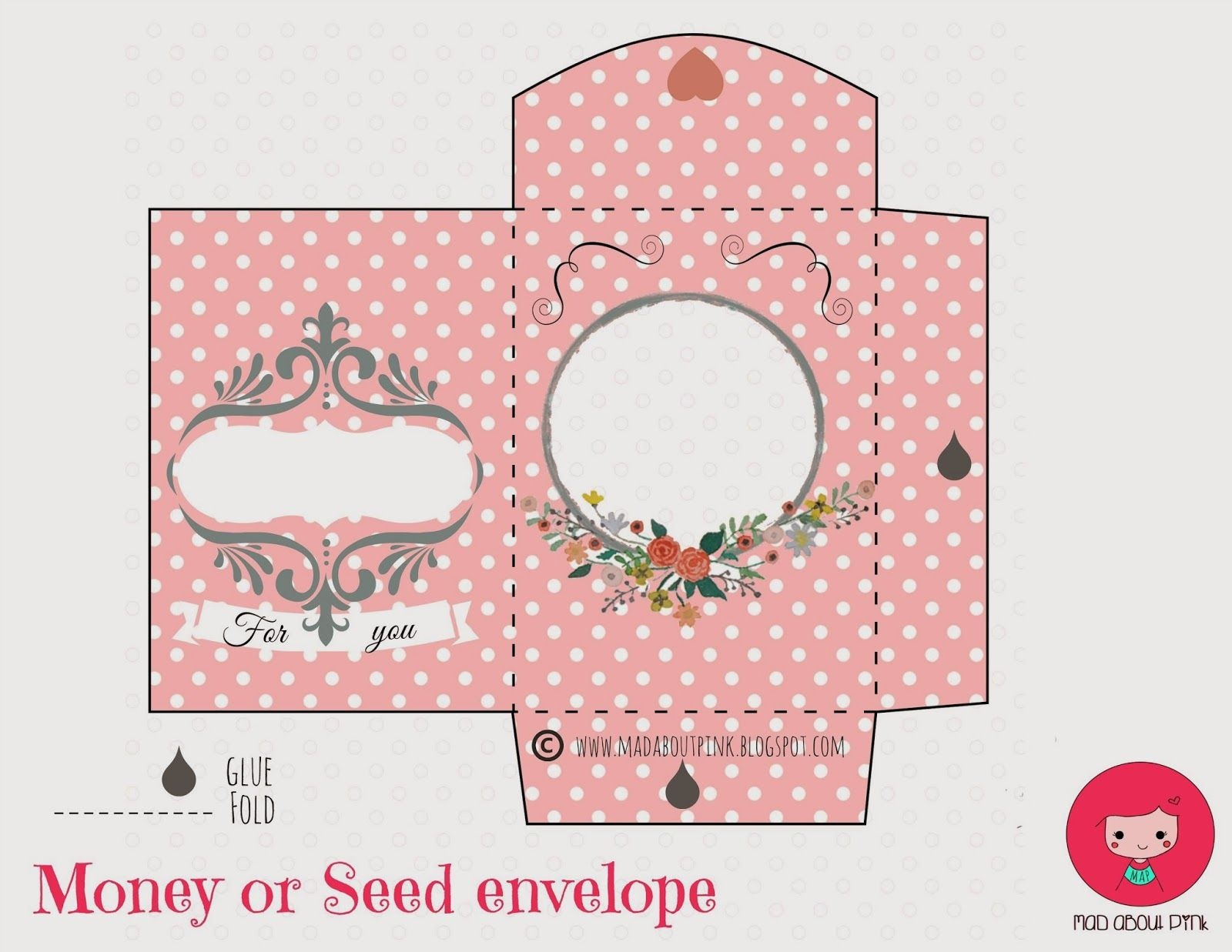 Mad About Pink: Freebie   Papercrafts   Printable Gift Cards, Money - Free Printable Gift Card Envelope Template