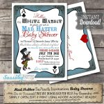 Mad Hatter Baby Shower Invitation Instant Download | Etsy   Mad Hatter Tea Party Invitations Free Printable