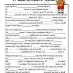 Mad Libs Basketball Game Worksheet   Free Esl Printable Worksheets   Free Printable Mad Libs