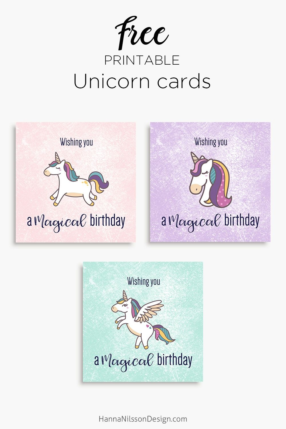 Magical Unicorn Birthday Printable Cards | Tis' Better To Give - Free Online Funny Birthday Cards Printable