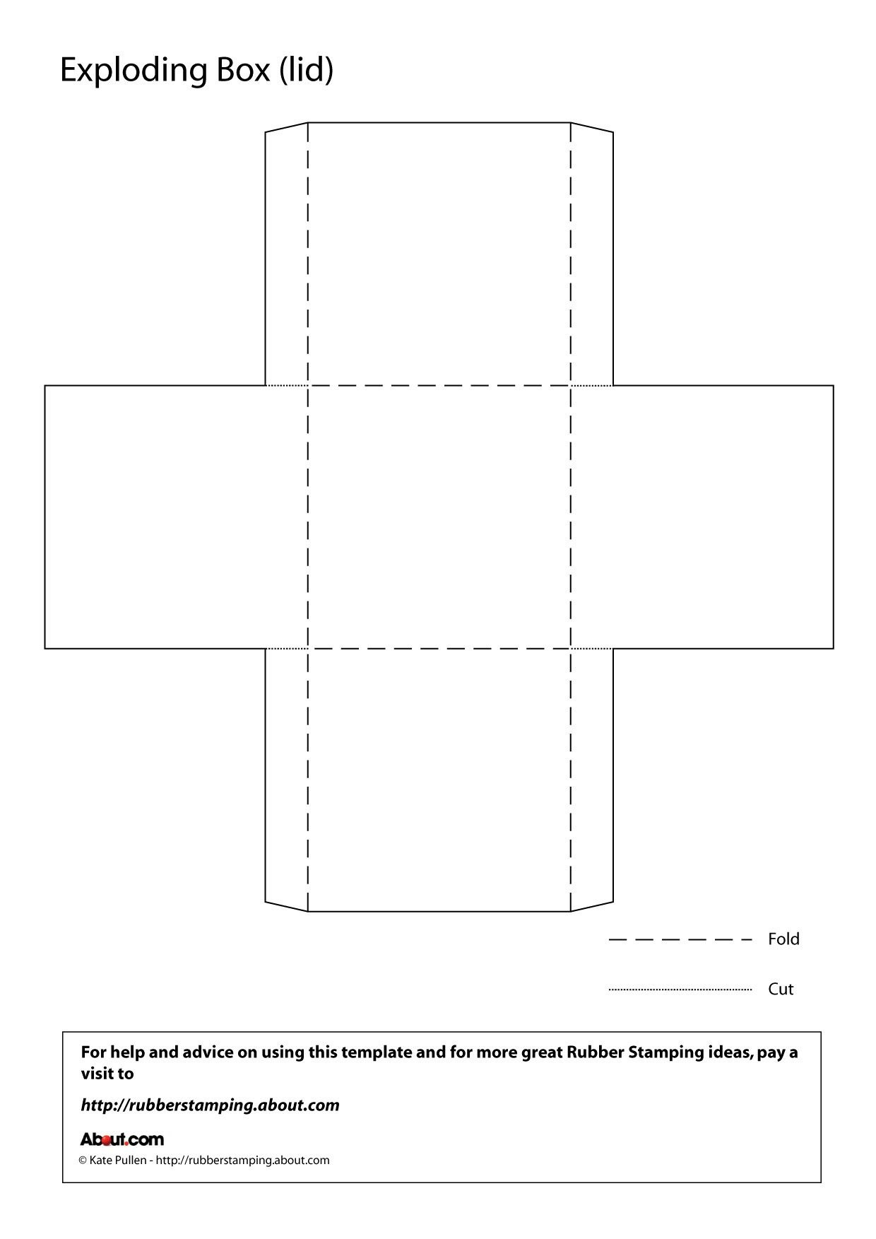 Make An Exploding Box With This Free Printable Template - Box Templates Free Printable