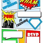 Make Your Own Comic Book Printable | Superhero Comic Book Party   Free Printable Superhero Birthday Invitation Templates