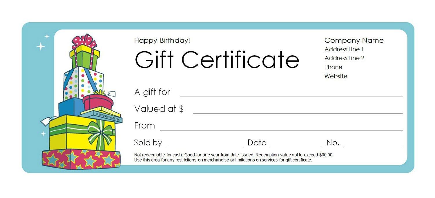 Make Your Own Gift Certificate Free Printable - Tutlin.psstech.co - Free Printable Gift Certificates