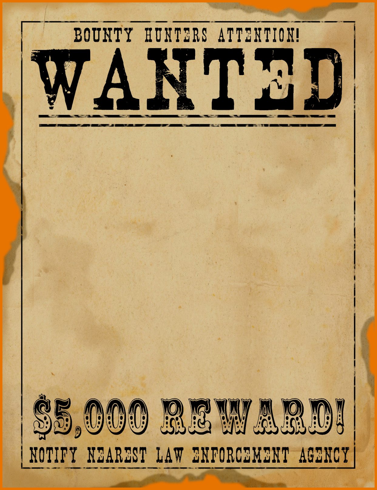 Making Wanted Posters - Demir.iso-Consulting.co - Wanted Poster Printable Free