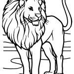Male African Lion Coloring Page | Free Printable Coloring Pages   Free Printable Picture Of A Lion